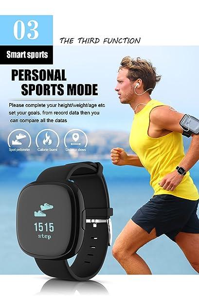 Inteligente Bluetooth Sphygmomanometer Pulsera A Prueba De Agua Rastreador De La Aptitud De La Presión Arterial Monitor De Ritmo Cardíaco Deportes Reloj De ...