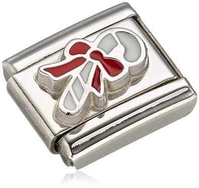 Nomination Composable Women's Charm Stainless Steel Enamel Snowman Head 330204/11 2YaN20