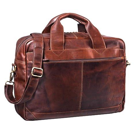 9520822d86 STILORD 'Amadeus' Borsa Lavoro a tracolla XL pelle vintage da uomo donna  Grande portadocumenti