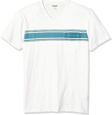 Goodthreads Marca camiseta de ante de manga corta con cuello en V y bolsillo para hombre