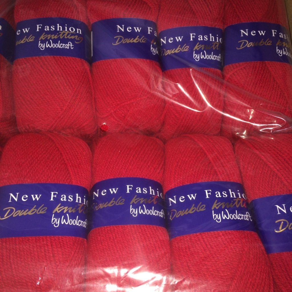 5 x 100g Woolcraft Dk Double Knitting Wool 5 x 100g Apple 439 Yarn