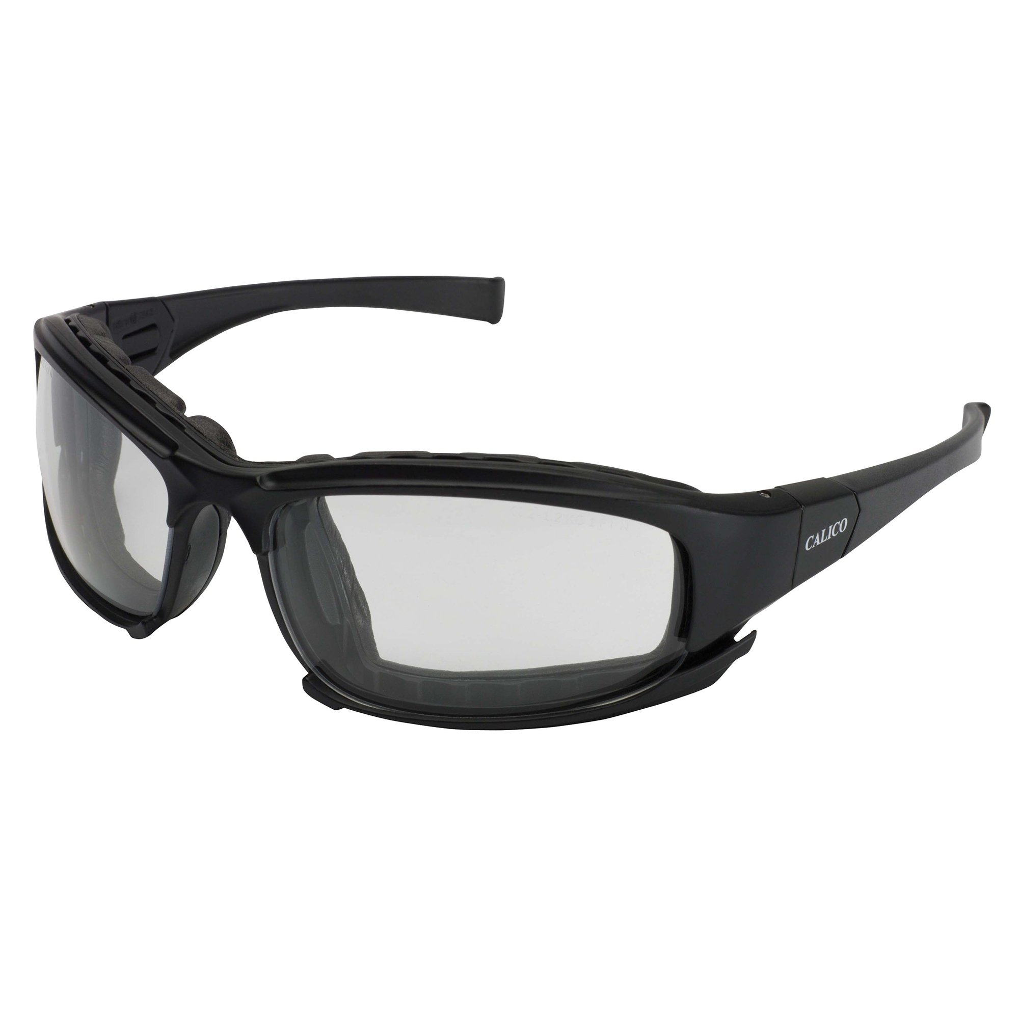 Jackson Safety Calico Safety Eyewear V50 (25672), Clear Anti-Fog Lens with Interchangeable Temples and Head Strap, 12 Pairs / Case