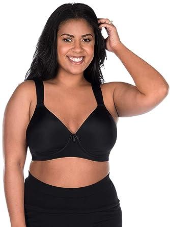 1143a2b44f Leading Lady Women s Plus Size Wireless Balconette T-Shirt Bra at Amazon  Women s Clothing store