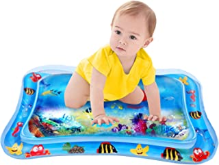 Inflatable Tummy Time Water Mat Infants & Toddlers, The Perfect Fun Time Play Activity Center Your Baby's Stimulation Growth