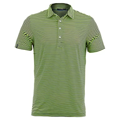 76938b0f046 RLX Ralph Lauren Active Fit Performance Fit Short Sleeve Golf Striped Polo  Shirt - -  Amazon.co.uk  Clothing