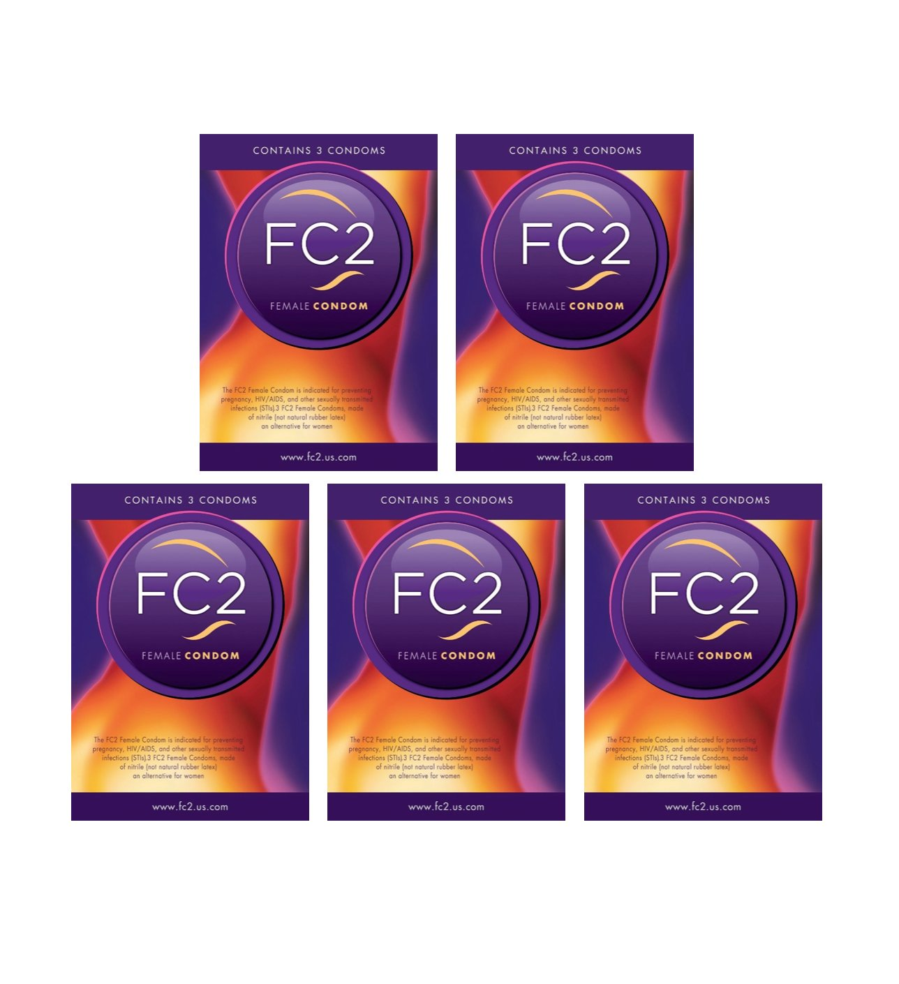 Female Condoms By FC2 (15 Pack) by FC Female Condom
