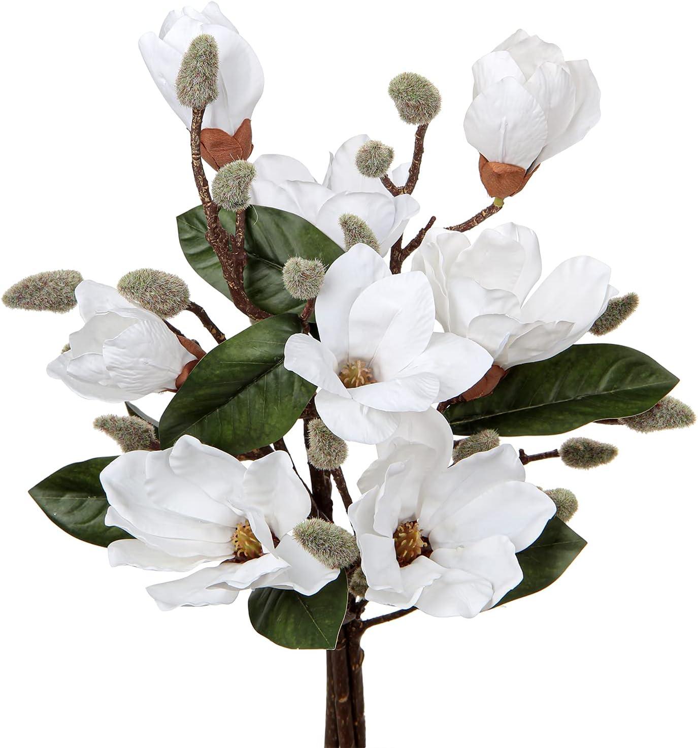 Artificial Flower Magnolia Stems 17.7