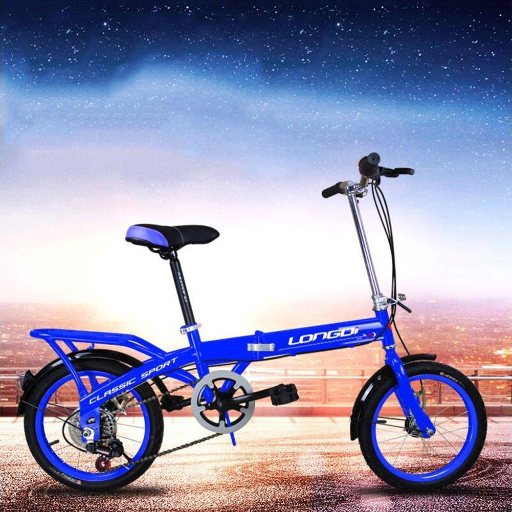 XQ チャイルドフォールド可変自転車16/20インチ大人のダンピング男性と女性のタイプの学生自転車 子ども用自転車 20-inch 青 B07CK8ZPWV