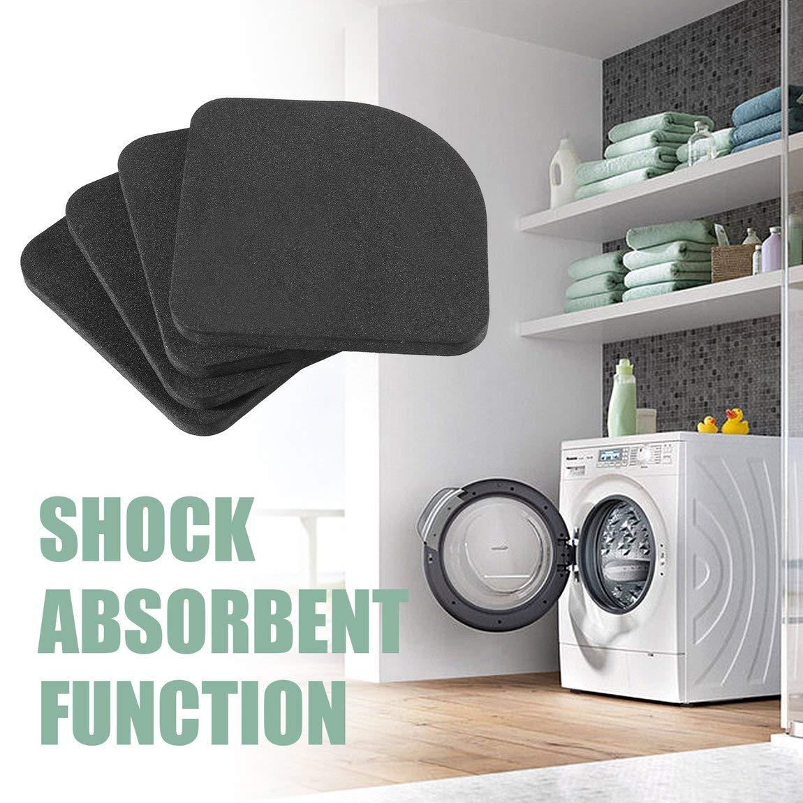 4 pezzi Tappetini antiscivolo per lavatrice Rondella Frigorifero Antivibrante Tappetino antiurto per lavatrice come mostra limmagine