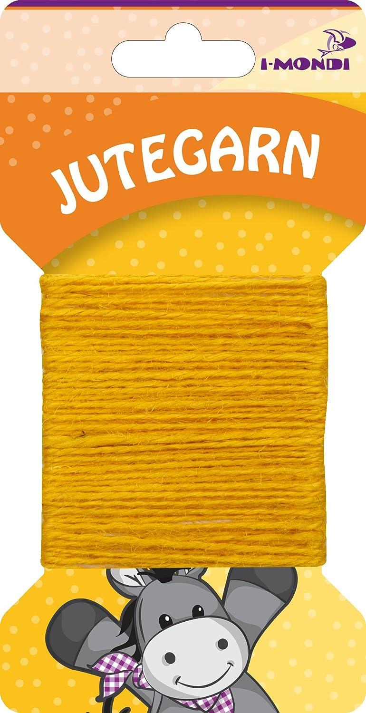 i-mondi® Hilo de yute para bordar tejer color amarillo largo 10 m ...