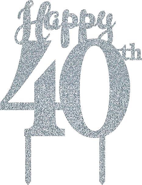 India Wanna Party Fiesta 40 cumpleaños de la Torta, de Plata ...