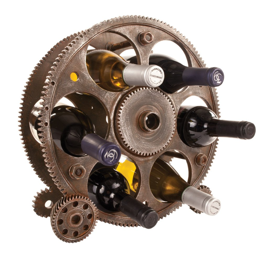 Gears And Wheels Wine Rack By Foster And Rye Tabletop