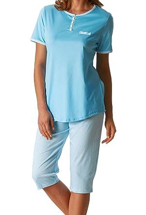 8331a20629 Mey Damen Pyjama mit 3/4-Hose 13805: Amazon.de: Bekleidung