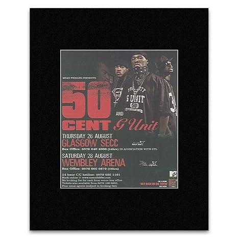 Nme 50 Cent Uk Tour 2004 Mini Poster 13 5x10cm