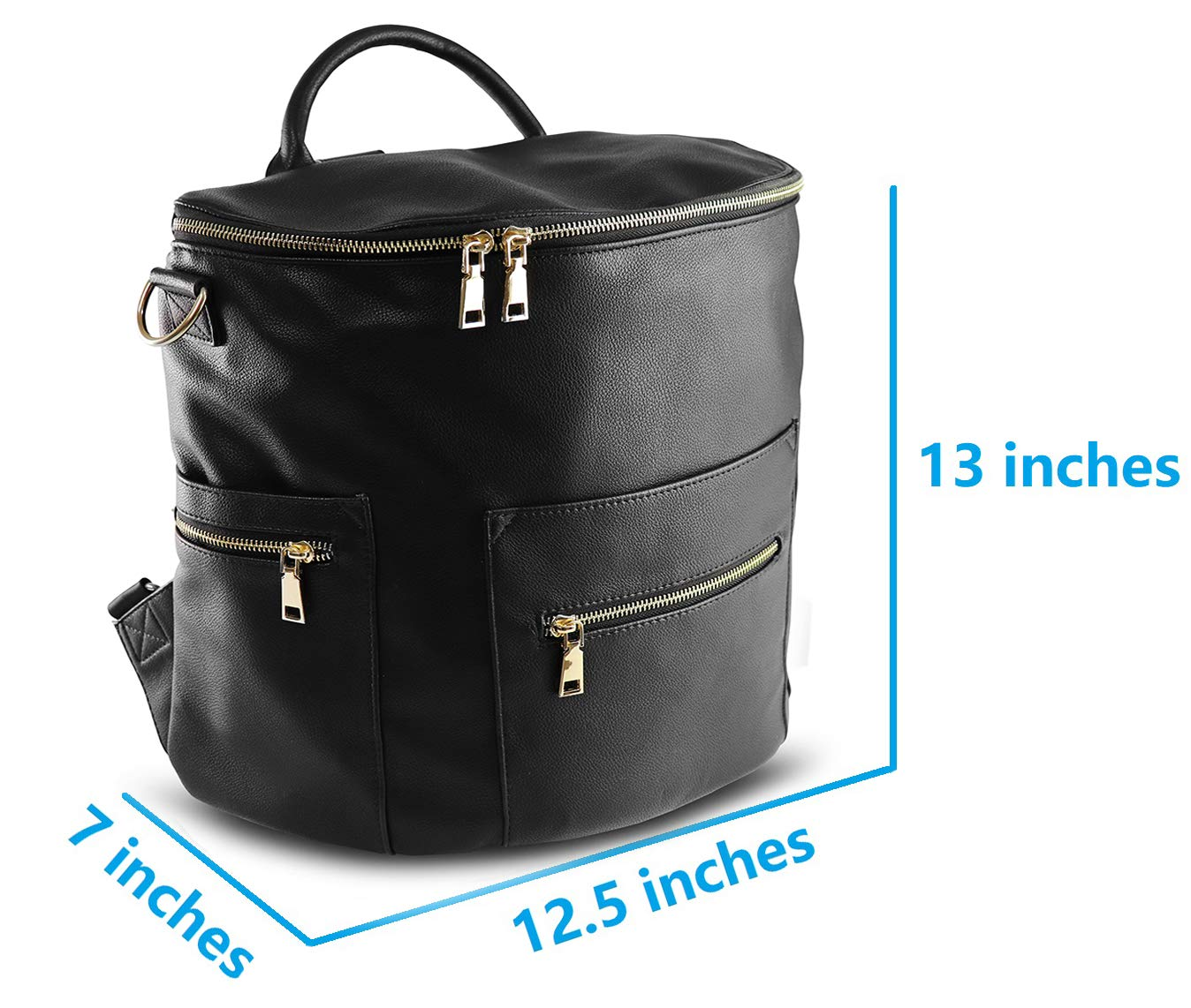 Amazon.com   Vegan Leather Diaper Bag Backpack with Changing Pad, Large  Storage Capacity, 13 Pockets Organizer Bag for Mother of 2 Kids (Black)    Baby 7db262d339