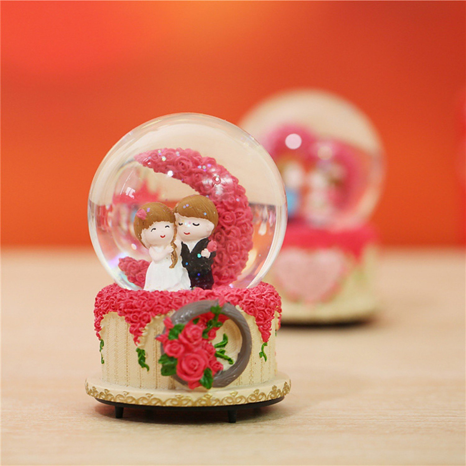 Romantic Valentine Gifts For Girlfriend Boyfriend Crystal Globe Special Birthday For Couple Wife Husband With Light And Music Amazon In Home Kitchen