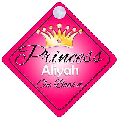 Alya Princess On Board Personnalisé Fille Voiture Panneau pour bébé/enfant cadeau 001 Bébés & Puériculture