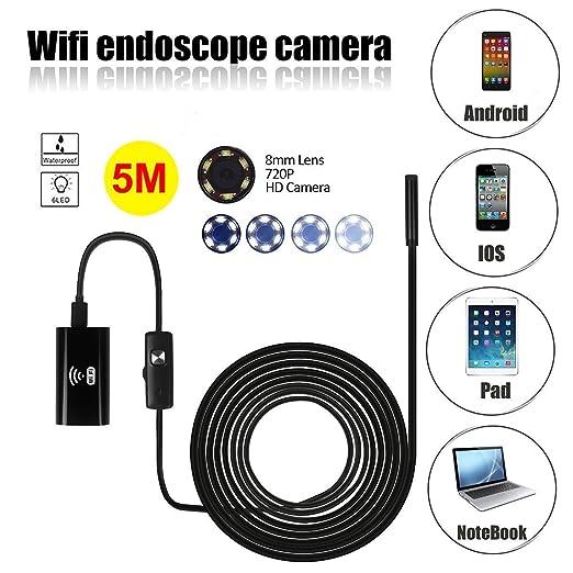 44 opinioni per Wifi Endoscopio, SGODDE HD 720P Wifi Senza fili Endoscopio Periscopio