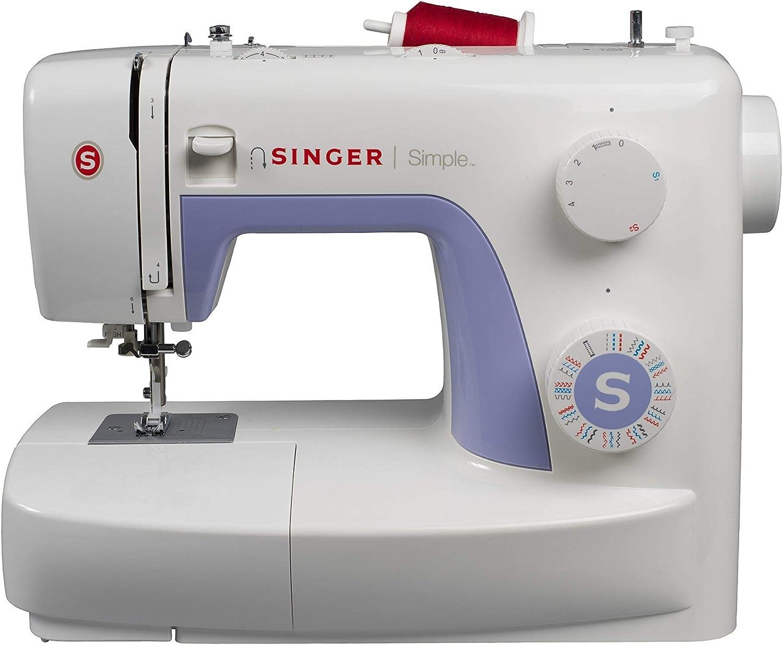 Singer Simple 3232 - Máquina de coser mecánica, 32 puntadas, 120 V, color blanco