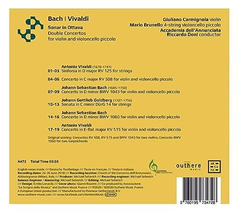 Doubles Concertos pour violon et violoncelle piccolo: Johann ...