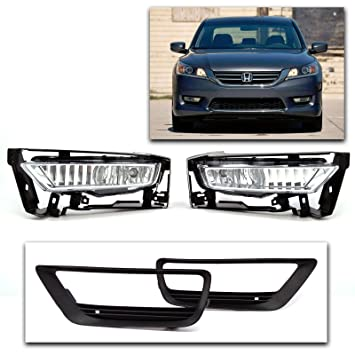 Superb 2013 2014 Honda Accord OE Fitment 4dr PCP Fog Lights Set With Harness And  Switch