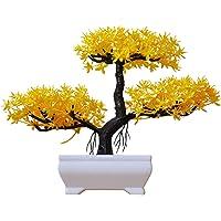 Plantas e vegetais artificiais em vaso realistas, sem manutenção, várias cores para casa, escritório, sala de mesa e…
