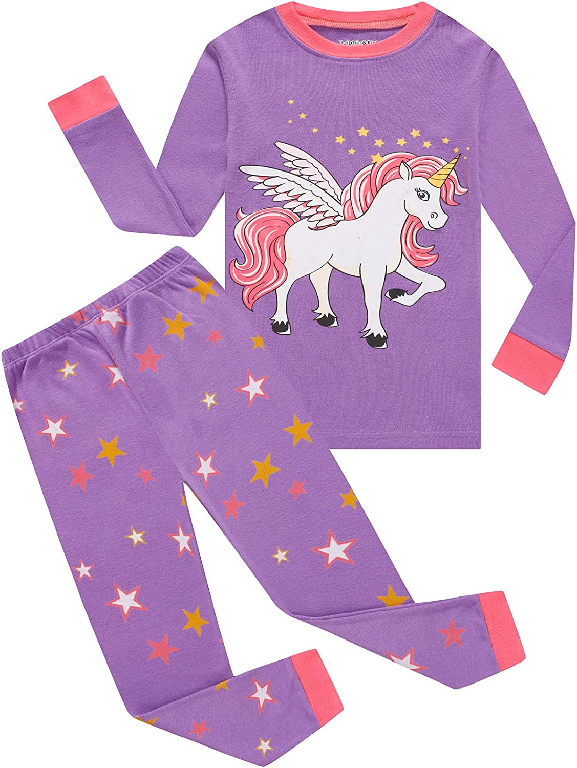 Dolphin/&Fish Girls Pajamas Family Matching Christmas Holiday Pjs Toddler Sleepwear