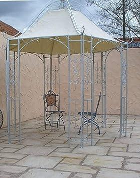 Carpa de metal para jardín o cenador de hierro forjado y zinc.: Amazon.es: Jardín
