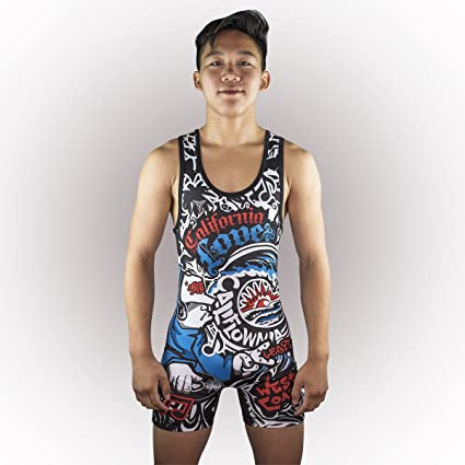 e801df87b51cb TRI-TITANS California Love Wrestling Singlet Youths and Adult Mens Sizes