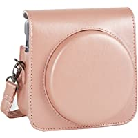 Phetium Protective Case Compatible with Instax Square SQ6 Instant Camera, Soft PU Leather Bag with Removable/Adjustable Shoulder Strap (Blush Gold)