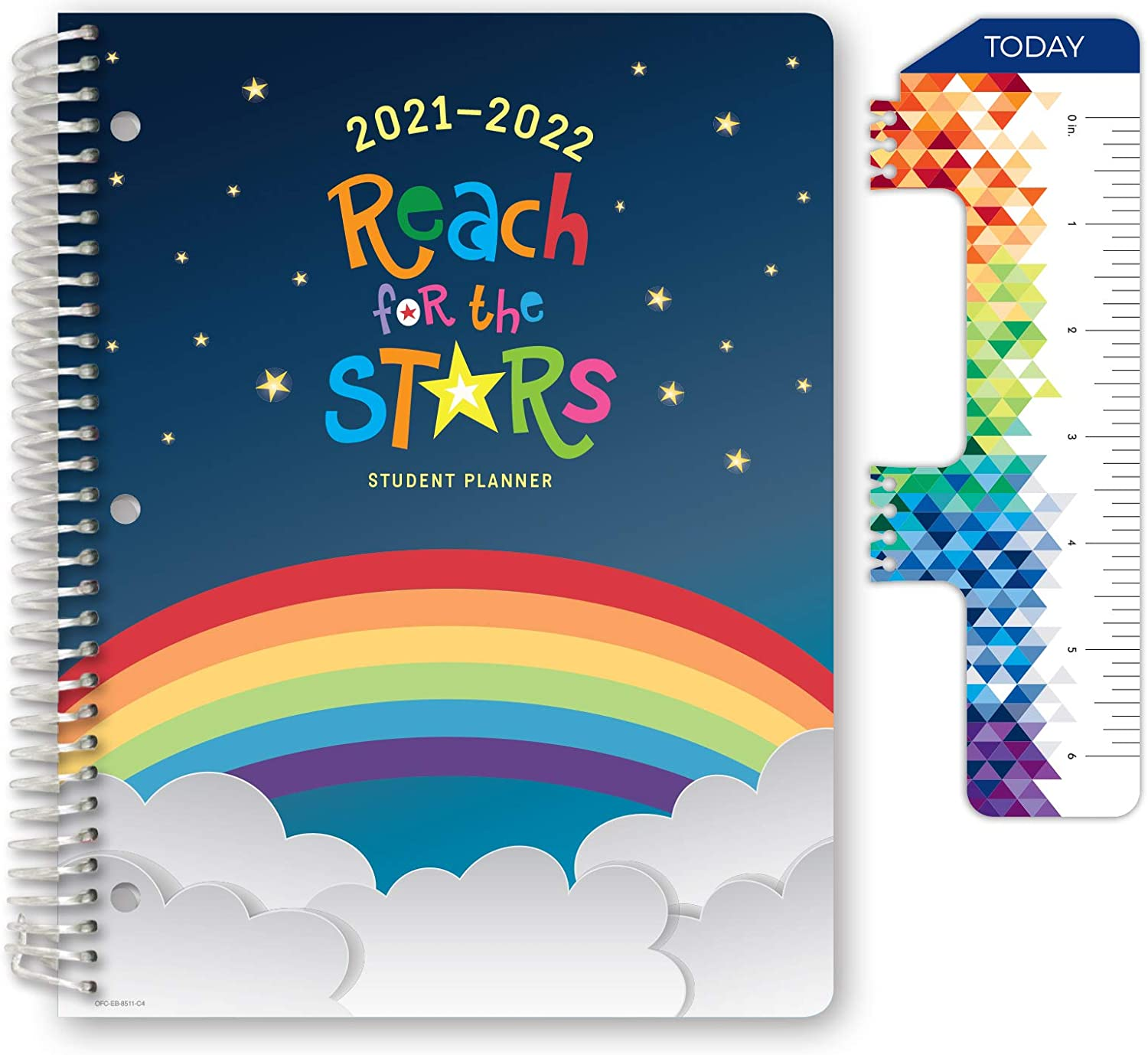 Dated Elementary Student Planner for Academic Year 2021-2022 (Block Style - 8.5
