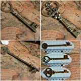 Extra Large Mixed Vintage Skeleton Keys 3 Styles,each 5pcs (15pcs)