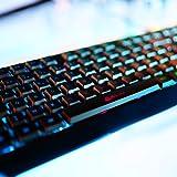 KLIM Chroma Rechargeable Wireless Gaming Keyboard + Slim, Durable, Ergonomic, Quiet, Waterproof, Silent Keys + Backlit Wireless Keyboard for PC PS4 Xbox One Mac + Teclado Gamer + New 2020 Version