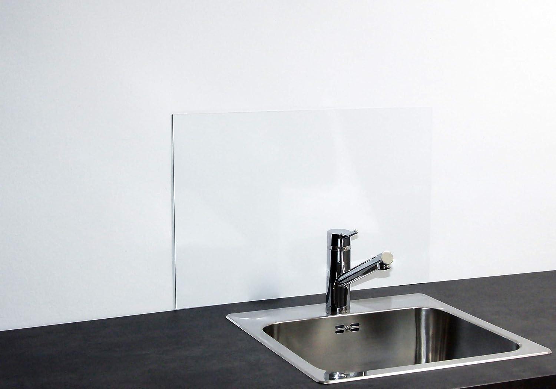 Paulus Spritzschutz Waschbecken 60x40 Cm Acrylglas Schwarz