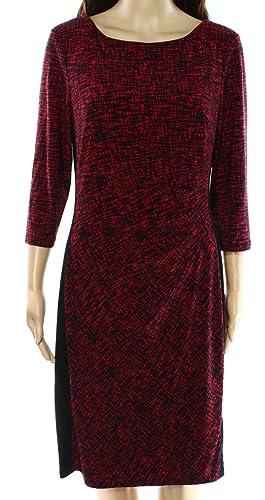 Lauren by Ralph Lauren Geo Print Stretch Jersey Sheath Dress (10)