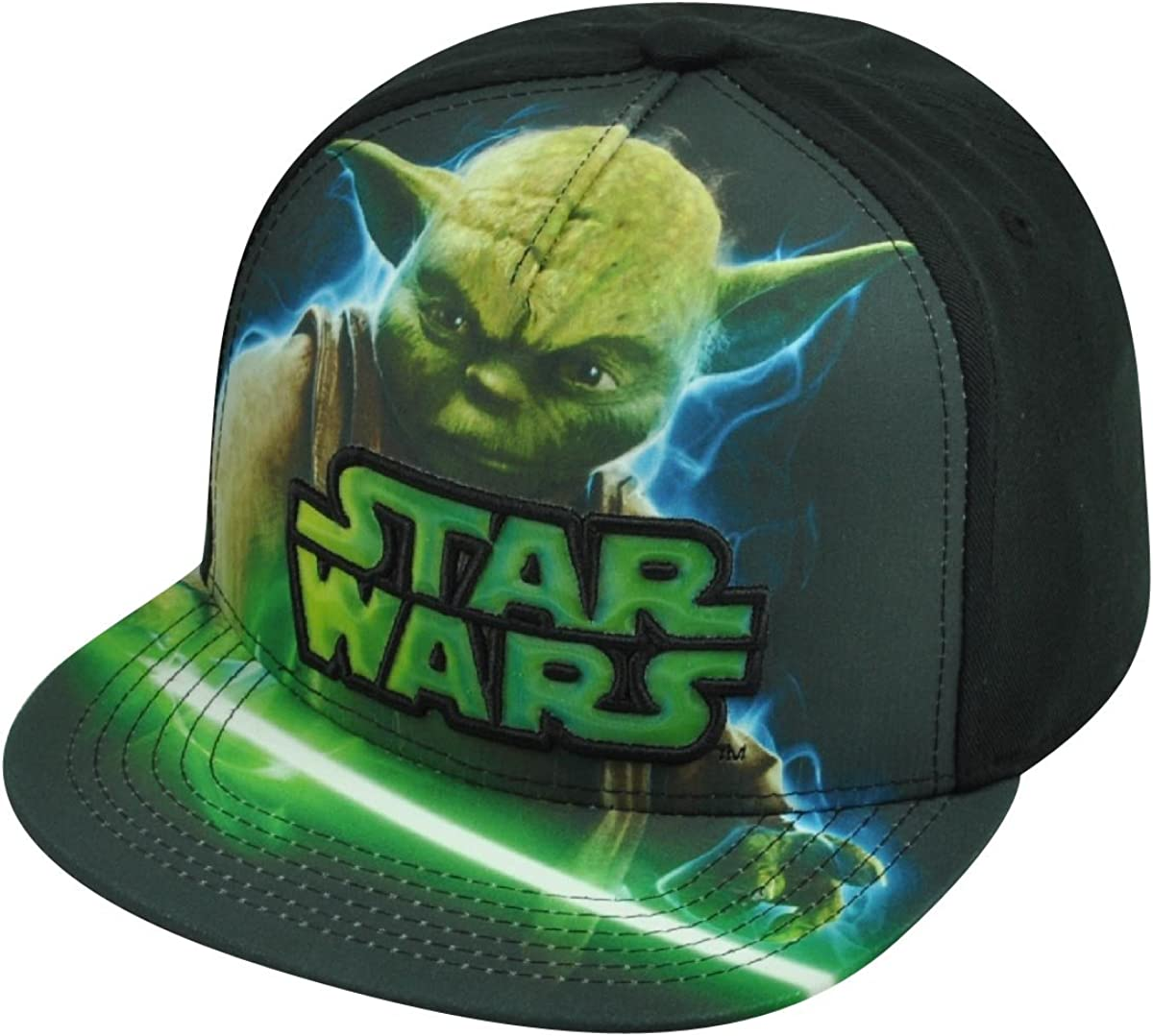 Yoda Adjustable Size Snapback Cap Officially Licensed Star Wars