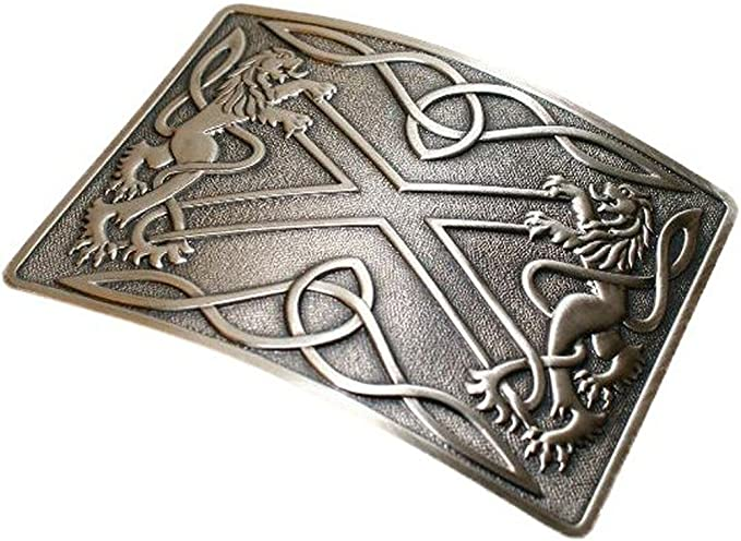 Para falda escocesa irlandés tradicional de trébol de la hebilla ...