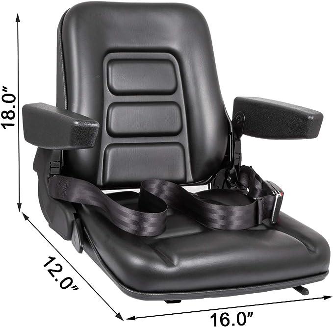 PREMIUM INTEGRATED SUSPENSION SEAT,FLIP UP ARM REST DOCUMENT HOLDER,FORKLIFT #HJ