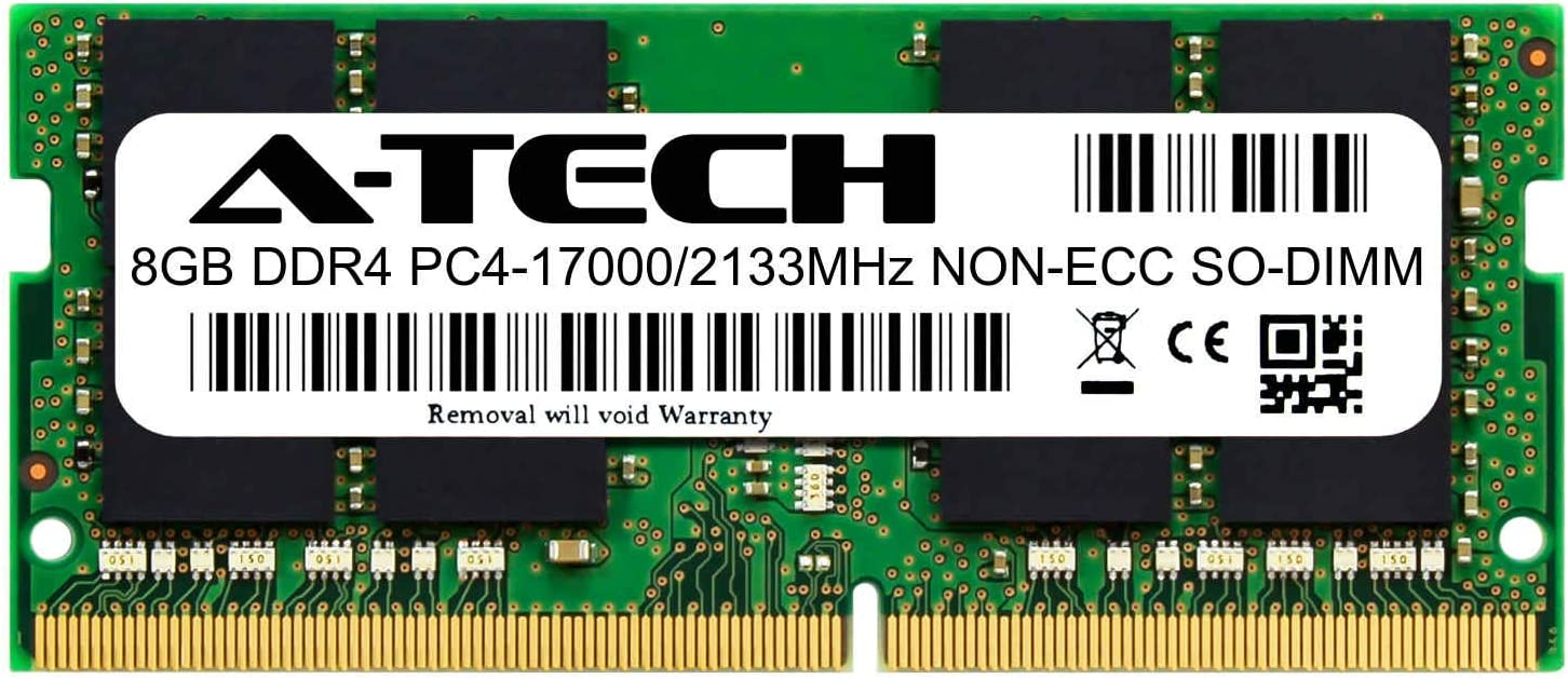 A-Tech 8GB Module for Lenovo IdeaPad 130-15AST Compatible DDR4 2133MHz PC4-17000 Non-ECC SODIMM 1.2V - Single Laptop & Notebook Memory RAM Stick (ATMS397709A34066X1)