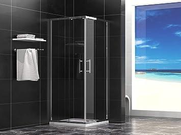 Cabina de ducha 80 x 80 x 190 cm con plato de ducha 6 mm cristal ...