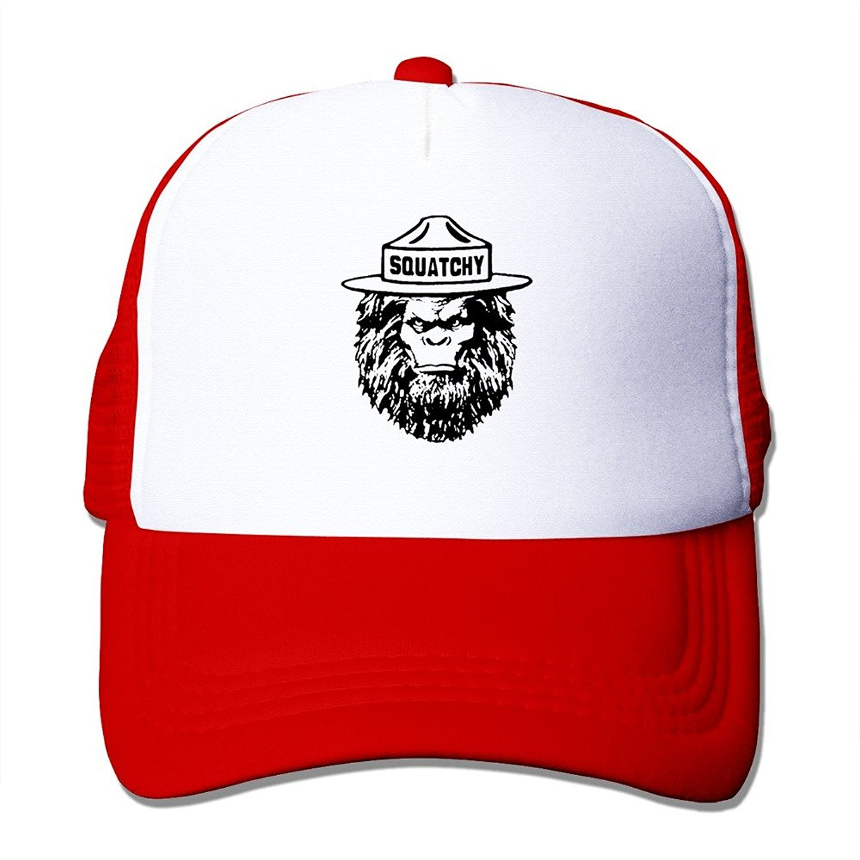 Sasquatch Squatchy Vintage Smokey The Bear Caps Unisex Sports Snapback Hats