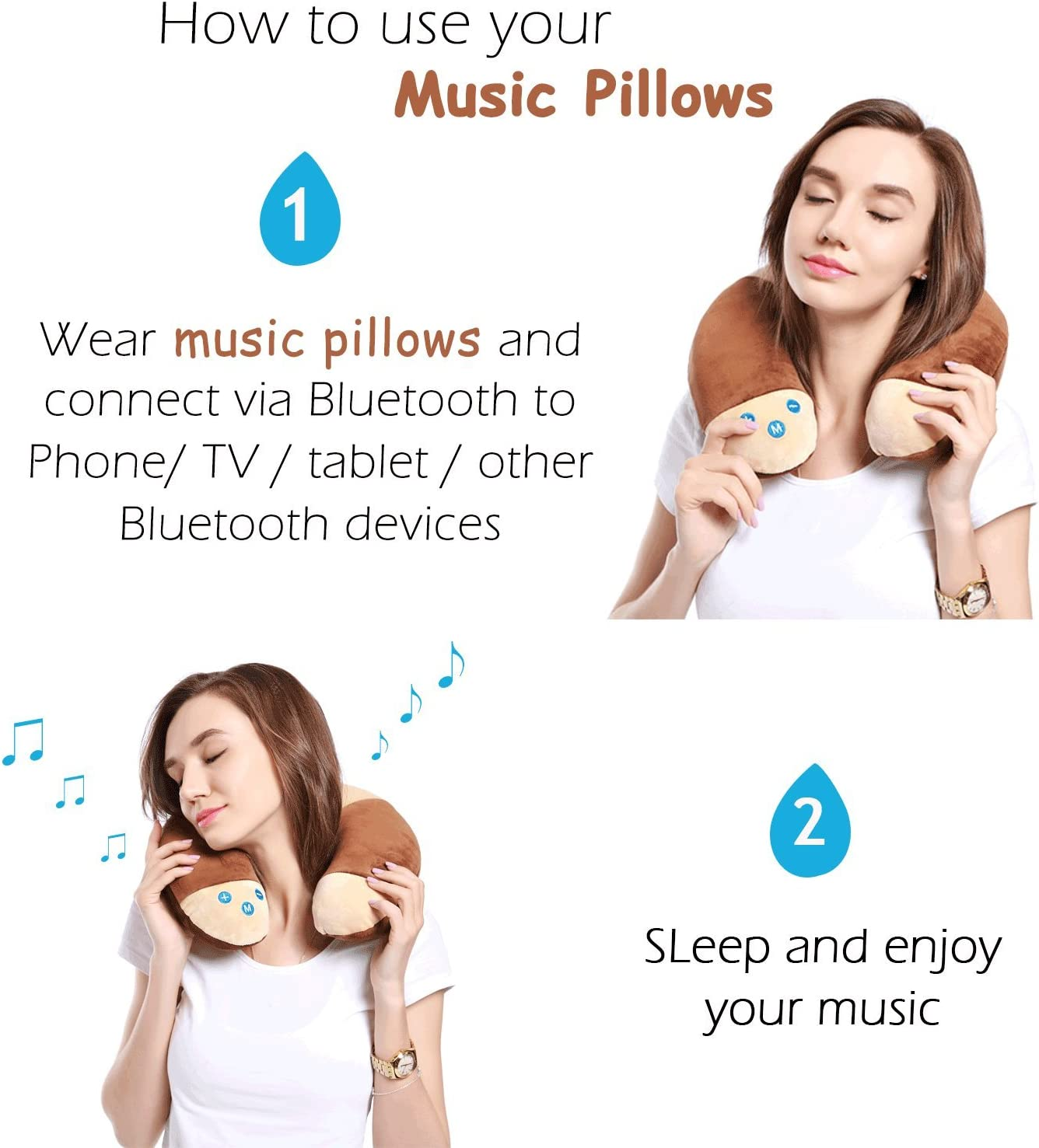 COVACURE Travel Pillow, Super Soft Neck