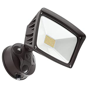 LEONLITE LED Outdoor Flood Light,Dusk-to-Dawn (Photocell Included), 3400lm, Waterproof Security Floodlight, 28W (220W Equiv.), DLC and ETL-Listed Exterior Lighting for Yard Porch, 5000K Daylight