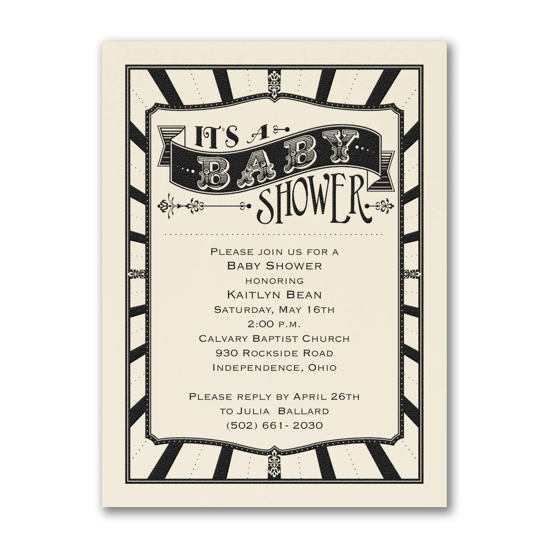 525pk Baby Shower - Baby Shower Invitation - Ecru-Baby Shower Invitations