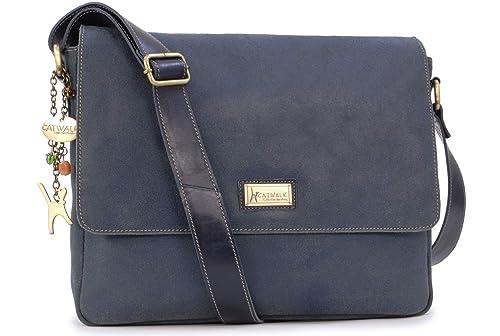96ec32eaed168 Catwalk Collection Handbags - Vintage Grobem Leder - CATWALK COLLECTION -  Größ - Umhängetasche Messenger