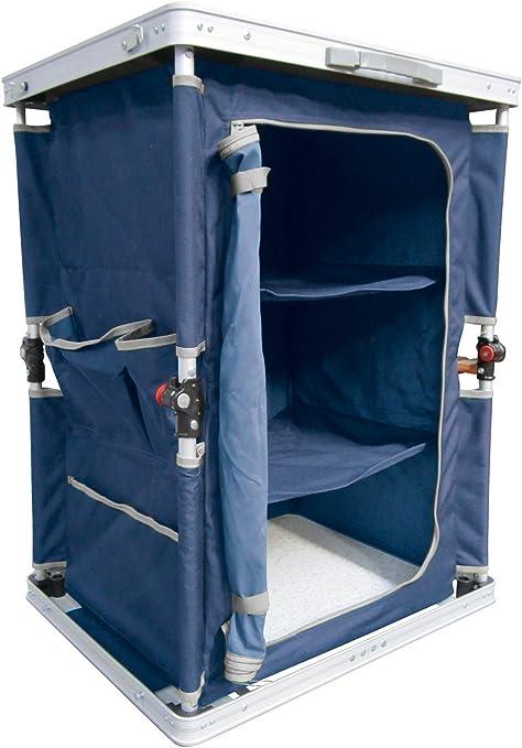 Ferrino 61789 Mueble Armario Plegable de Camping, Azul