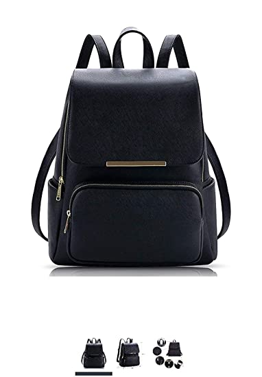 63644ef729fd Wild Buddy Black PU Leather Leather Backpack: Amazon.in: Bags, Wallets &  Luggage
