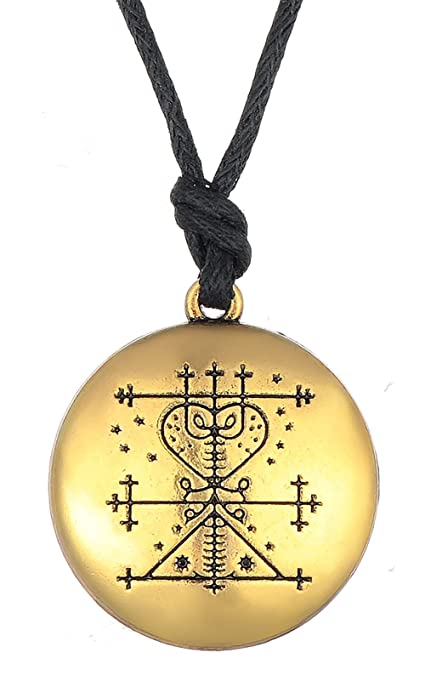 Amazon Vintage Gothic Amulet Maman Brigitte Voodoo Loa Veve