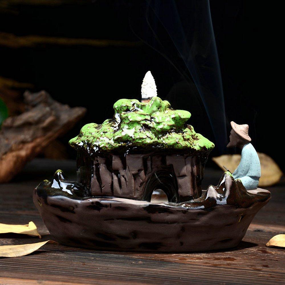 Eforlife Ceramic Incense Holder Backflow Censer Home Decoration (Guilin Scenery) by Eforlife (Image #6)