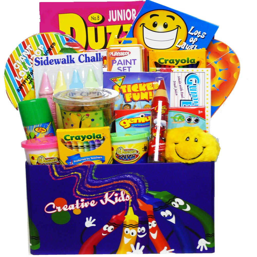 Arts And Crafts Gift Ideas For Kids Part - 30: Amazon.com : Crafty Kids Fun U0026 Activity Gift Box : Gourmet Candy Gifts :  Grocery U0026 Gourmet Food